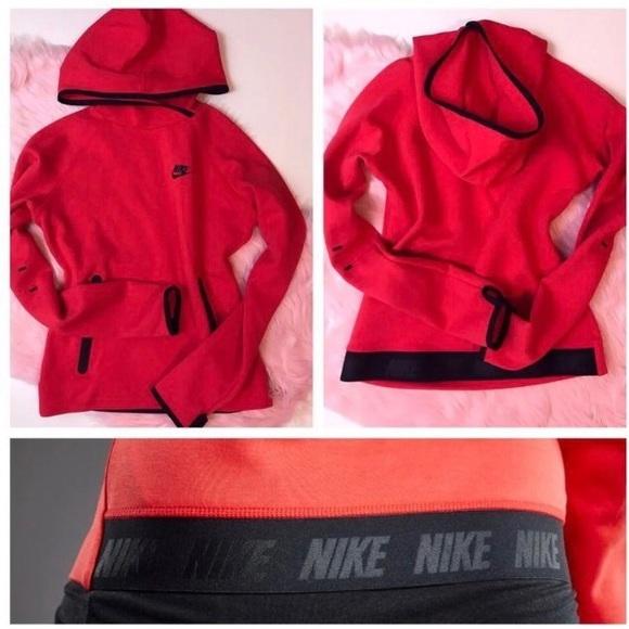 Red Nike Tech Fleece Hoodie Womens Small. M 5c1030b1c9bf50c002407623 965169d014